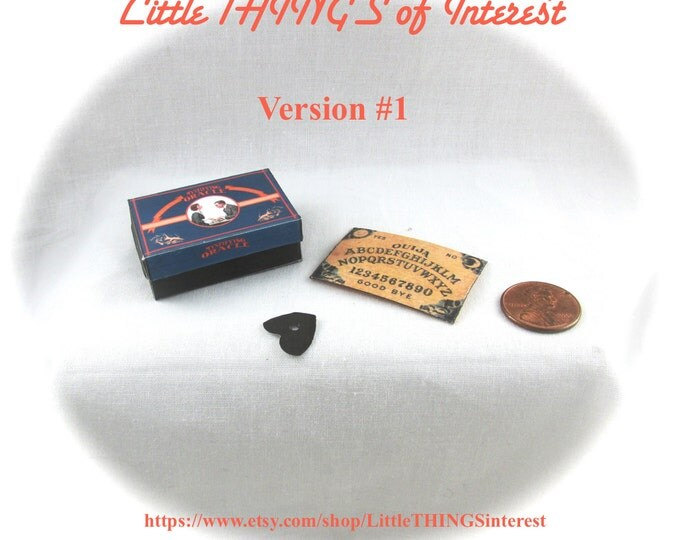 Dollhouse Doll OUIJA BOARD - Box and Planchette Printable Tutorial Miniature 1:12th Scale Version 1 DIY Fortune Teller Gypsy Tarot Magic