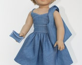 """American Girl  18"""" Doll Clothes and Accessories - Denim Darling Outfit"""