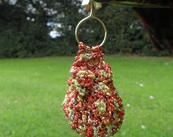 Sparkly red & gold tablecloth weights