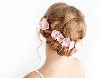 Bridal Headpiece in Blush Pink - Bridal Headband - Flower Headband - Wedding hair accessories