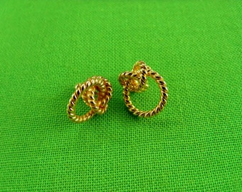 Vintage Twisted Love Knot Post Earrings (Item 884)