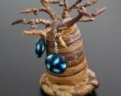 Boucles d'oreilles fimo - fleurs bleues
