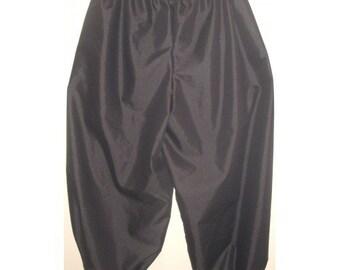 "New adult mens womens medium black cotton SCA renaissance pirate costumes costume pants 32""-38"""
