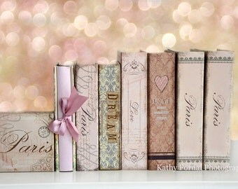 Books Photography, Paris Books Love Dream Wall Art Print, Book Lover Prints, Paris Books Photography, Paris Baby Girl Books Wall Art Prints