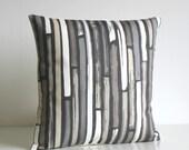 Stripe Pillow Cover, Stripe Cushion Cover, Stripe Pillow Sham, 16 Inch, 16x16, grey, gray, beige, slip, sham, case - Random Stripes Neutral