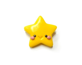 Kawaii star brooch - cute polymer clay brooch
