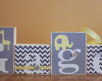 Grey Yellow Baby Shower- Gray Yellow Elephant Giraffe Baby Shower- Elephant Shower Centerpiece- Grey Yellow Nursery Gray Chevron Baby Shower