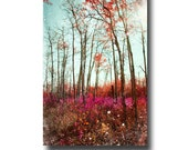 Tree Photography Download, Digital Photo, 12x8 Wall Art, Colorful, Psychedelic, Fairy Tale Forest, Tree Photo For Girl's Room