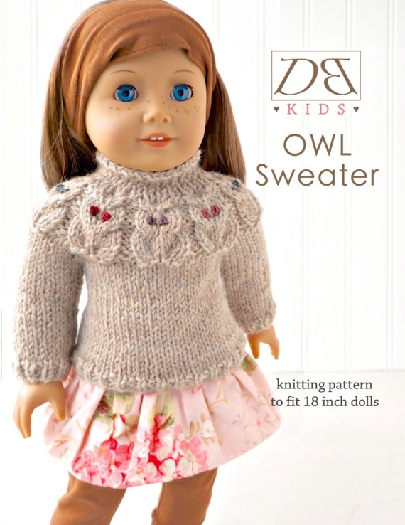 Doll clothes knitting pattern PDF for 18 inch American Girl