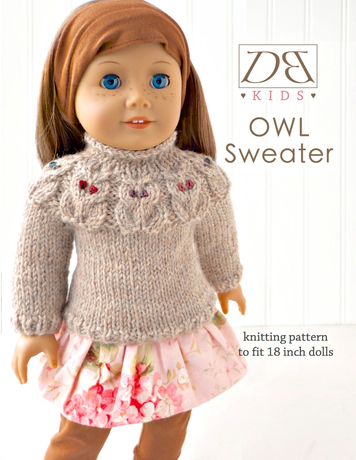 Knitting Patterns For 17 Inch Dolls : Doll clothes knitting pattern PDF for 18 inch American Girl