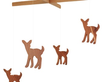 Fawn Mobile - Wood Deer Mobile - Wooden Mobile