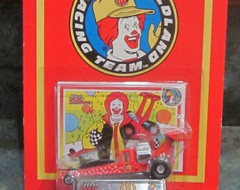 1994 Racing Champions McDonald's Ronald McDonald Dragster Die Cast Car Mint in Package