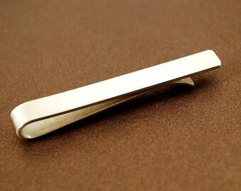 Silver Tie Clip, Silver Tie Bar, Groomsmen