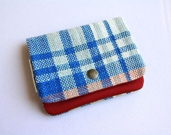 Lil' Pouch - Handwoven Blue/White