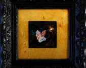 Framed Original Tiny Painting: Night Flight
