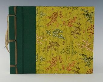 Handmade Photo Album: Green Bamboo small
