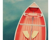 Postcards - Single Card - Blank Cards - Floating On a Cloud #2 Postcard - Photography - Boat - Canoe - Paddle  - Nature - Orange -  Summer