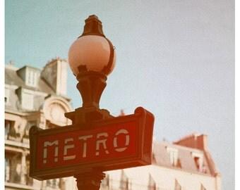 Paris Photograph - Metro II - Fine Art Photograph - French Photo - Paris Art - Subway Sign - Typography - French Photograph - Paris Print