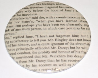 Pride and Prejudice Mirror / Jane Austen / Literary Gift Idea / Mr Darcy /Bookish Gift Idea / Jane Austen Gift / Stocking Stuffer / Bookish