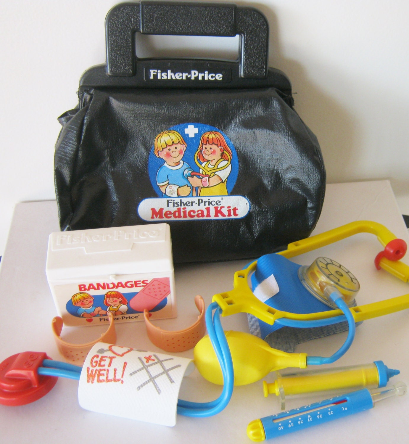 Toy Medical Kit : Vintage fisher price medical kit doctor bag and tools s