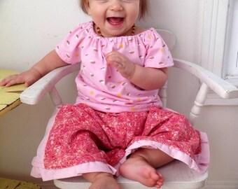 12 mos-2T Top Pants Pink Rainbows Corduroy Outfit Boutique