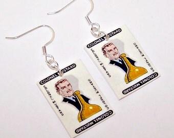 CLUE Colonel Mustard Vintage 1949 Earrings