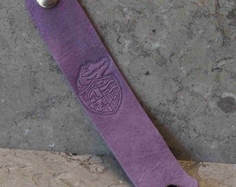 Embossed Leather Wrist Strap - SJ Tucker's Lost Girls Pirate Academy