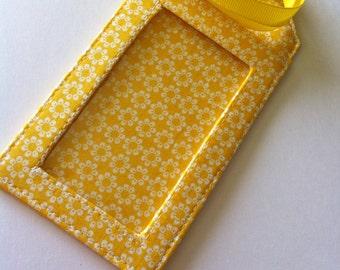 Fabric Luggage Bright Yellow Daisy