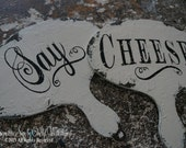 SAY CHEESE SIGN Set, Photography Wedding Props, Just Married Wedding Signs. Wedding Paddles