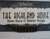 Custom BUSINESS Sign, Elegant Sign, SHABBY CHIC Business Sign, Distressed Business Sign, Home Office Sign,Logo Sign, Vendor Sign