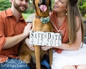 Save The Date Sign for the Dog. Photo Props. Rustic Save The Date. Wedding Sign. Rustic Wedding.