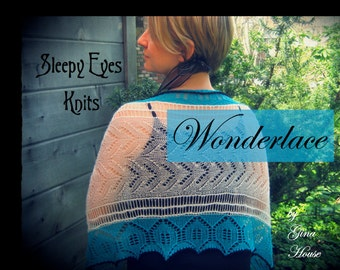Wonderlace and PDF - Sleepy Eyes Knits
