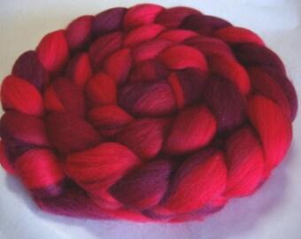 Merino wool roving, spinning fiber, felting wool, 21 micron, felting wool, dolls hair, dread wool, wool dreads, red shades,100g, 3.5oz