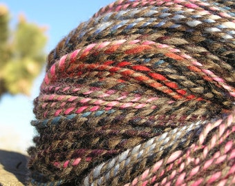 Hand Spun Yarn - Alpaca, Llama and Wool - Striping Natural Wonder 1