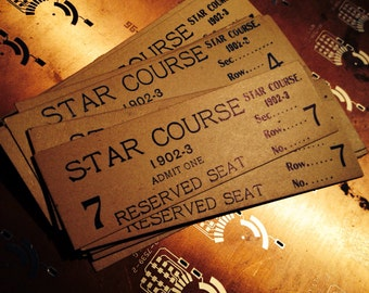 1pc STAR COURSE TICKET 1902 Antique Fantastic Ephemera
