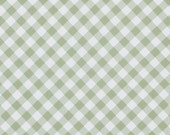 Sunshine Rose by Tanya Whelan Fabric / Gingham in Green   - 1 Yard Cotton Quilt Fashion Fabric