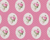 Sunshine Rose by Tanya Whelan Fabric / Old Time Rose in Pink  - 1 Yard Cotton Quilt Fashion Fabric