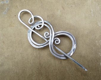 Little Boo-Knits Aluminum Lace Shawl Pin, Scarf Pin, Sweater Clip Closure, Fastener, Brooch -  Knitting Accessories Jewelry - Light Weight