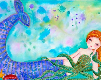 Mermaid Besties - Large Print - 11X14