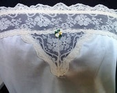 Vintage strapless Cami - Size Large Cream Colored Camisole