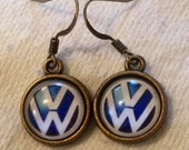 VW Earrings (Volkswagen) choice of  4 metals & 4 colors!!!