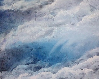 Clouds, Oil Painting on canvas, Original Painting, sky Painting, Cloud Painting