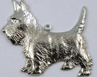30mm Silver Scottie Dog Charm #262