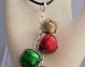Green, Gold, Red, and Silver Jingle Necklace