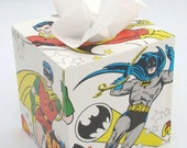 DC Comics Super Friends Vintage 1978 Wallpaper Tissue Box Cover