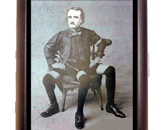 3 Legged Sideshow Freak Edgar Allan Poe Cigarette Case Wallet Credit Card Case
