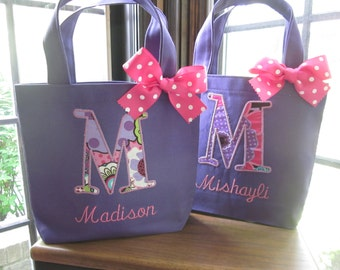 TOTE BAG Custom Designed and Personalized Toddler or Big Kid Tote