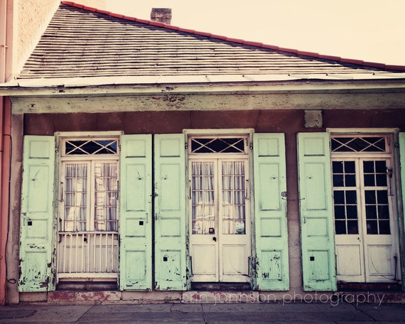 Items Similar To New Orleans Art French Quarter Architecture Photography Blue Shutters Decor
