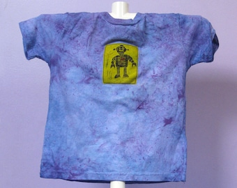 Hand-dyed child's T-shirt, size 5/6