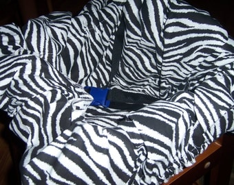 Shopping Cart CoverZebra Print  MommysCreation Baby Infant Germ Free Buggy
